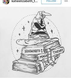 Harry Potter tattoo sorting hat More