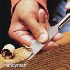 How to use and sharpen a wood chisel