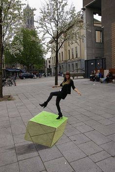 streetpainting by leon keer, via Flickr