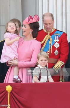 getty: Trooping the Colour 2017, June 17, 2017-Princess Charlotte, Duchess of Cambridge, Duke of Cambridge, Prince George