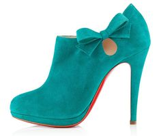 Christian Louboutin Belnodo ankle boots in teal $1125