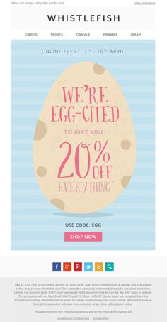 Hm easter deal up to 50 off emaildesign email marketing easter discount email with coupon from whistlefish emailmarketing email marketing easter negle Choice Image