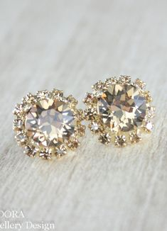 Champagne earring Swarovski crystal - enough said - TOO much love for this pair!! x
