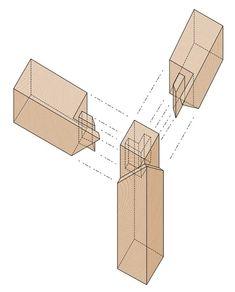 목공 - 이음과 짜임의 유형 Woodworking Projects Diy, Diy Projects, Paper Tower, Wood Furniture, Furniture Design, Chinese Table, Wood Joinery, Home Jobs, Building Design