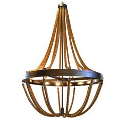 Rope Chandelier   From a unique collection of antique and modern chandeliers and pendants  at http://www.1stdibs.com/furniture/lighting/chandeliers-pendant-lights/ $28,200