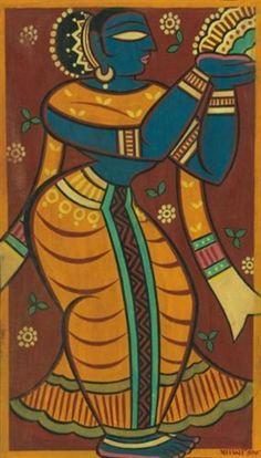 Jamini Roy - Untitled (Apsara)