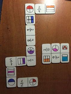 Math For Kids, Fun Math, Math Games, Math Activities, Teaching Fractions, Math Fractions, Teaching Math, Math Classroom, Kindergarten Math