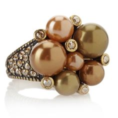 """Heidi Daus """"Brilliant Baubles"""" Crystal-Accented Cluster Ring at HSN.com"""