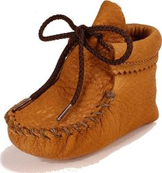 Handcrafted in USA You can't find a cuter baby moccasin anywhere and these are appropriate for either baby boy or baby girl. This particular pair is made of elk – the most amazingly soft and supple leather you can find. These are the next best thing to barefoot in terms of the baby... see more details at https://bestselleroutlets.com/baby/apparel-accessories/baby-boys/product-review-for-itasca-moccasin-wapsi-dusk/
