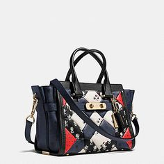 6779fc4320 COACH SWAGGER 27 CARRYALL IN PRINTED PATCHWORK LEATHER Coach Swagger 27