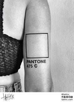 Cool pantone tattoo. Line work
