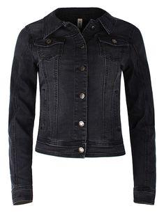 Nette taillierte Damen Jeansjacke mit Knopfleiste für die kühlen Herbst-  oder Frühlingstage.  Streetstyle 01f20d1b3c