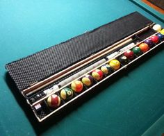 If you love playing pool, but need a case to carry around your pool stick and pool balls, then this is the DIY wood project for you. This DIY Wooden Box for Billiard Supplies will make transporting your pool equipment a piece of cake. Woodworking Projects Diy, Diy Wood Projects, Wooden Diy, Wooden Boxes, Custom Pool Tables, Pool Sticks, Pool Equipment, Diy Pool, Wood Pallets