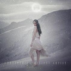 Snow Moon by Corvinerium.deviantart.com on @DeviantArt