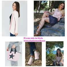 La  vie en Rose  . Vestuario : ➡Americana Leoni 23€ ➡Blusa Colette 17,90€➡Bolso Star 19,90€  Todo de www.charlotteonline.es    Zapatos: Sitgetanashoes