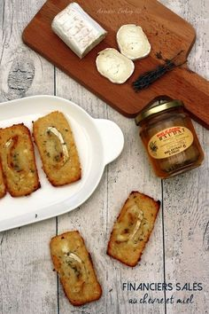 Financiers salés au chèvre et miel Tapas, Cooking Time, Cooking Recipes, Fingers Food, Food Porn, Salty Foods, Food Inspiration, Love Food, Foodies