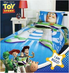 I am Buzz Lightyear Quilt Cover Set http://www.kidsbeddingdreams.com/toy_story_bedding/cid-12/ #BuzzLightyear #ToyStory #Bedroom