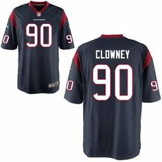 Mens Nike Jadeveon Clowney Navy Blue Houston Texans 2014 NFL Draft  1 Pick  Game Jersey f42bc338f