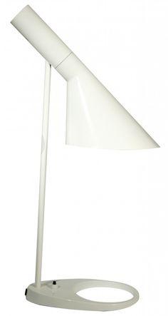 AJ desk lamp from infurn $119. Comes in black, white, red, yellow, aqua