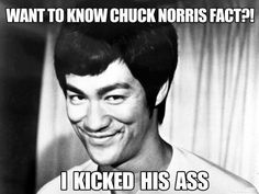 No one can touch Bruce Lee...even Chuck Norris.