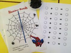 Spiderman Number Bonds