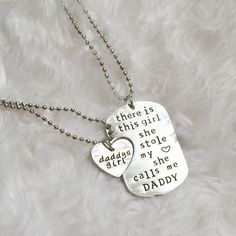 Daddy Daughter Necklace Gift