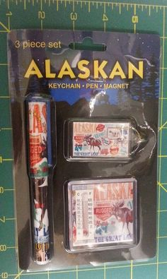 Alaskan 3 piece set - Has Keychain Magnet with themometer and Pen in set  - If you click the View Page button, it will take you to our eBay store listing for this 3 piece set.  When you click the following link, it will take you to our Way Up In Alaska Misc Items Page:  http://www.wayupinalaska.com/Home-Decor---Misc-Gifts.html