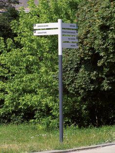 mmcité - products - information medium - os Park Signage, Wayfinding Signage, Signage Design, Street Signs, Street Art, Versailles, Outdoor Signage, Outdoor Decor, St Lawrence Market