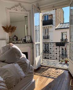 Home Interior Living Room .Home Interior Living Room Dream Apartment, Apartment Goals, Parisian Apartment, European Apartment, Parisian Bedroom, Paris Apartment Interiors, Cosy Apartment, French Apartment, White Bedroom