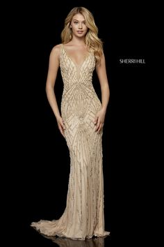 Sherri Hill 52324 beaded gown with deep v bodice and back. WE CAN ORDER ANY JOVANI, Terani Couture, MNM Couture, Sherri Hill. I hope you enjoy our selection of evening gowns for your special occasions. Sherri Hill Prom Dresses, Prom Dress Stores, Homecoming Dresses, Bridesmaid Dresses, Gala Dresses, Formal Dresses, Great Gatsby Prom Dresses, Club Dresses, Evening Dresses