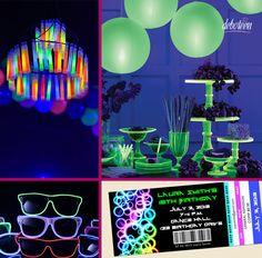 Inspirações para Festa Neon                                                                                                                                                                                 Mais