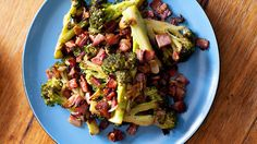 Duck fat broccoli with garlic and bacon recipe : SBS Food Recipes With Beef Meat, Roast Meat Recipe, Oven Roast Beef, Roasted Duck Recipes, Pork Roast Recipes, Roasted Meat, Garlic Recipes, Bacon Recipes, Roast Chicken
