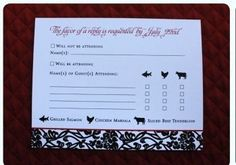 rsvp wedding meal choice - Google Search