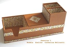 Vos cartonnages ! Box Packaging, Box Art, Continental Wallet, Decorative Boxes, Projects To Try, Creations, Pattern, Crafts, Origami