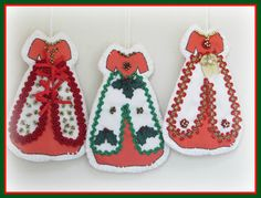 Linda Walsh Originals Dolls and Crafts Blog: My New Free Linda's How-Do-I Series? How To Make Our Victorian Cut and Sew Christmas Group #1 Dress Ornaments E-Book Tutorial