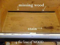 4 the love of wood: FIXING A BROKEN DRAWER - tutorial    http://4theloveofwood.blogspot.com/2013/01/fixing-broken-drawer-tutorial.html#