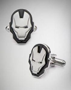 Ironman Steel Mask Cufflinks