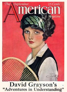 American 1924-09 via magazineart.org #vintage #tennis #illustration Posted on magazineart.org