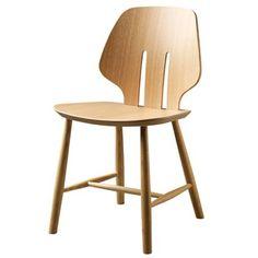 Ejvind A. Johansson J67 - Natur, eg Stol - Klassisk stol i fuldendt formsprog  Dansk Design  Scandinavian
