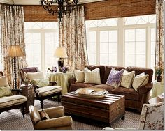 New living room sectional layout curtains Ideas Brown Couch Living Room, Living Room Sectional, Rugs In Living Room, Home And Living, Living Room Decor, Cottage Living, Cozy Living, Country Living, Living Room Furniture Layout