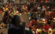 Diwali festival of light: Sri Lankan Hindu devotees participate in a religious ritual in Colombo