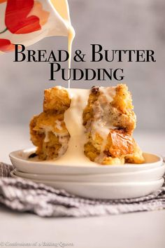 English Dessert Recipes, British Desserts, Bread And Butter Pudding, How To Double A Recipe, Easy Bread, Pudding Recipes, Salted Butter, Brown Butter, Afternoon Tea