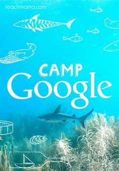 You can plan a 'Camp Google' for some summer fun and a summer the kids for sure won't forget! Learn all about the ocean, space, nature and music. You can even plan more stuff around this fun ideas with related theme snacks and other games! #teachmama #campgoogle #indoorfun #learningforkids #funactivities #kidfun #activity #educationalgame