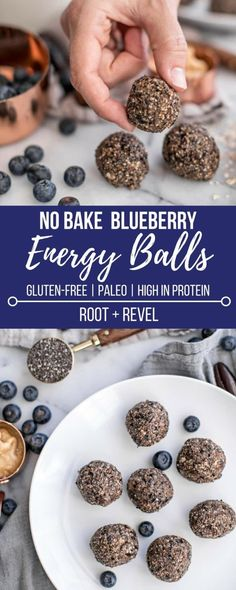 These no bake blueberry energy balls are made with just five healthy ingredients and are packed with protein to boost your energy and improve your health.