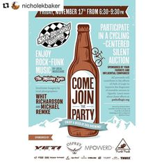 @nicholekbaker hosting  Last reminder Durango friends! Path of Logic is having its first ever fundraiser. I am so excited to share my 2018 pathology projects with everyone.  Come have a beer with me listen to great music and come bid on some amazing cycling products.  All proceeds will be helping to improve the diagnostic capabilities of a medical school and referral hospital pathology laboratory in southwestern Uganda.  This will expedite the diagnoses of treatable diseases and cancers and…