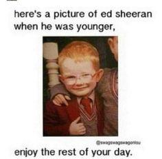 Ed Sheeran. Cutest child on this earth.