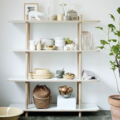 Skagerak DO Shelf System - 4 Shelves. Made of untreated oak and melamine, DO can stand on its own in a room to partition your home interior, or be placed against a wall like a traditional shelf system.