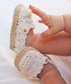 Crochet Brio: Daisy espadrillas