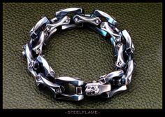 Steel Flame - Axe Link Bracelet, $2,595.00 (http://www.steelflame.com/axe-link-bracelet/)