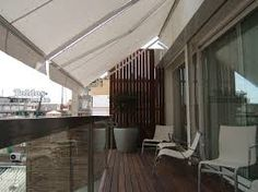Resultado de imagen de TOLDOS BLANCOS TERRAZA Patio, Outdoor Decor, Furniture, Home Decor, Safe Room, Balconies, Decks, Arms, Architecture
